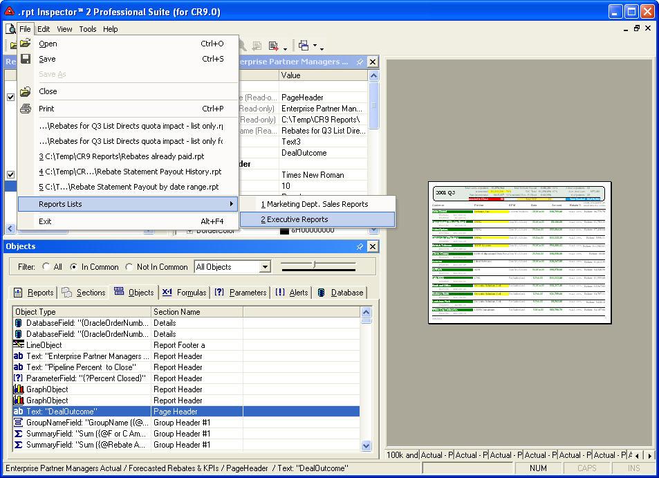 rpt Inspector Enterprise Suite for BusinessObjects
