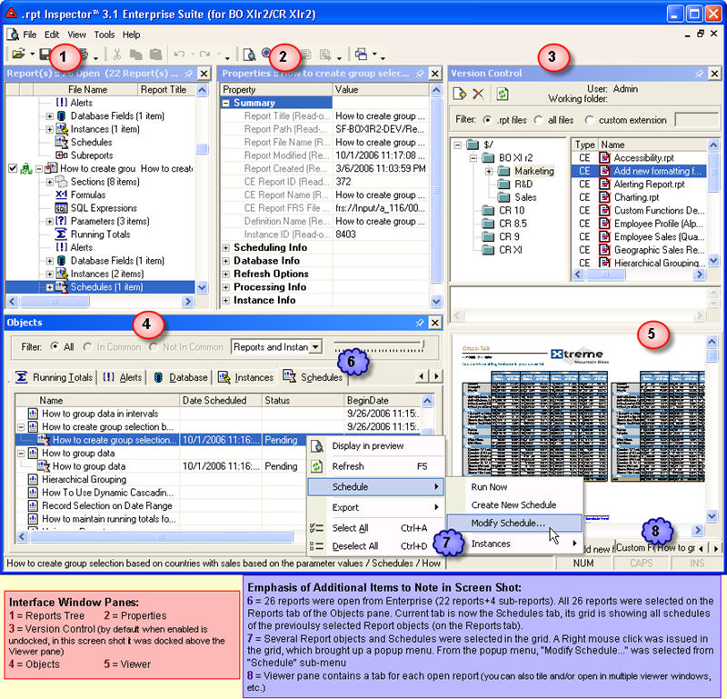 rpt Inspector Professional Suite for Crystal Reports